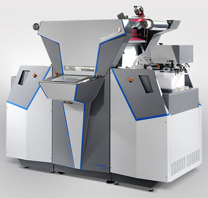 The KURZ DM-Liner transfer unit – for creating metal effects in digital print, using the Digital Metal technique